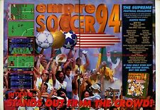 "Empire Soccer '94 ""Empire"" 1994 Double Page Magazine Advert #5811"