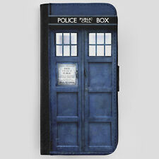 Doctor Who Tardis Leather Flip Phone Case Cover for iPhone 6 7 Galaxy S6 S7 S8