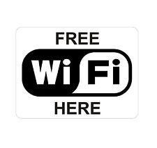 Wifi gratuit ici Autocollant Decal étiquette en vinyle graphique