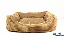 Small Pet Bed Dog Bed Cat Bed Nest Cushion Warm Cozy Pet Bed Brown Velvet W010S