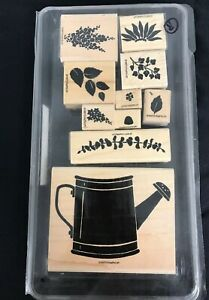 Stampin' Up! - WILDFLOWERS - Rubber Stamps Set of 10