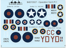 Opération torch partie 1 1/72nd scale decals