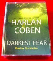 Harlan Coben Darkest Fear Myron Bolitar 4-Tape Audio Book NEW SEALED Tim Machin