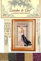 Lavender & Lace Cross Stitch Chart with Mill Hill Bead Set ~ CELTIC SPRING #50