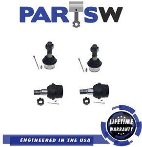 4 Pc Suspension Kit for Bronco II Explorer F100 Ranger Upper & Lower Ball Joints