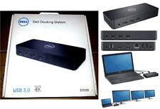 Nueva Dell Ultra Hd 4k Superspeed Docking Station Usb 3.0 Conectar 3 Monitores