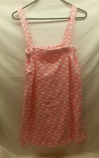 Women's Bobbie Brooks S/M Pink Chevron Shower Robe Bath Wrap Swim Cover Up NWT