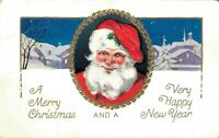 Merry Christmas - Vintage Santa Claus Best Wishes For Christmas Postcard 03.08