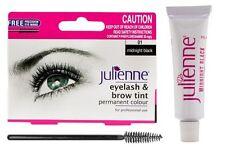 Julienne Eyelash and Eyebrow Permanent Midnight Black 01 Colour Tint 15ml Gift
