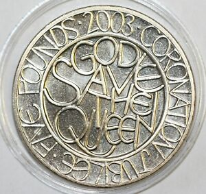 2003 Commemorative £5 - Coronation Jubilee Uncirculated Condition