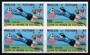 [333020] Wallis Fut 1994 soccer good VF block of 4 MNH imperf. Stamp