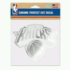 NEW YORK KNICKS PERFECT CUT CHROME DECAL 6x6 FREE SHIPPING!
