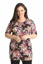3/4 Sleeve Tunic Machine Washable Floral Tops & Blouses for Women