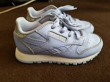 88d175944df reebok lillac girl leather trainers size 8
