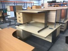 STRAIGHT OFFICE PEDESTAL DESKS ONLY £50 EACH, MORE OFFICE FURNITURE IN STOCK