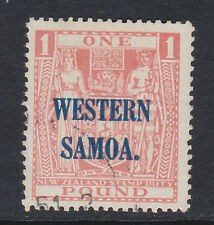 SAMOA 1945-53 £1 PINK SG 210 FINE USED.