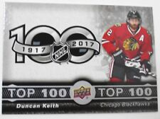 2017-18 Duncan Keith Tim Hortons Top 100 Checklist NHL Hockey Card - #TOP-6