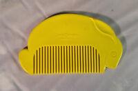 Vintage (late 1970s) Junior Designs Yellow Rabbit Comb Rare Free Shipping
