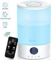 Cool Mist Humidifier, 3L Ultrasonic Air Humidifier Essential Oil Diffuser