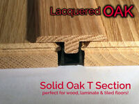 Real Solid T Section For Wood Floors Threshold Door Bar Profile LACQUERED OAK