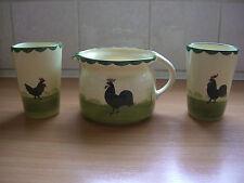 Hahn und Henne Milchtopf und 2 Becher