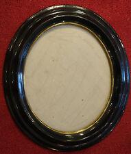 Bilderrahmen oval,Biedermeier, Pappmaché mit Holz versteift, mit Glas