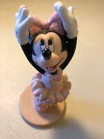 Minnie mouse Ceramic Ballet Dance Figure / Figurine - Glitter