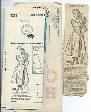 SR 1269 sewing pattern 40's Ruffled PINAFORE sew Pretty mail order news clipping