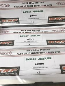 TEAR OFFS to fit OAKLEY AIRBRAKE GOGGLES 10 multiple pack deals
