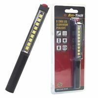 Super Bright 9 SMD LED Pocket Pen Torch Worklight Magnetic Inspection Flashlight