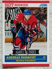 Montreal Canadiens Andreas Engqvist Signed 10/11 Score Hot Rookies Card Auto