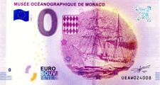 98 MONACO Musée océanographique, Navire, 2018, Billet 0 € Souvenir