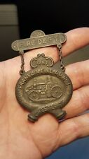 Antique Obsolete Franklin Fire Co. No.1 Chester Pa 1867 Badge