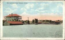 Denison TX Rod & Gun Club c1920 Postcard