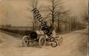 Real Photo 1908-1911 Overland Automobile At Georgetown MA Massachusetts D315