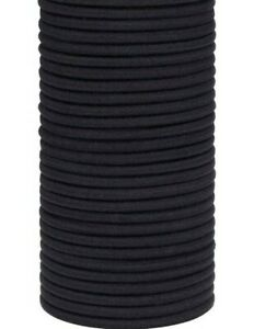 25 PCS thick black hair ties Soft metal free elastic ponytail holder Hairbands