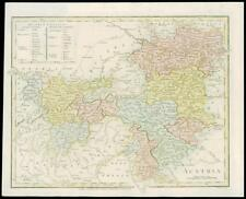 1801 Mapa Antiguo Original-Austria Austria Imperio Por Robert Wilkinson (GC3/65)