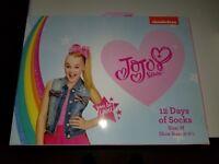 JoJo Siwa 12 Days Of Socks of CHRISTMAS Advent Box - M Girls NICKELODEON
