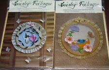 COUNTRY FEELING Fabric Hoop Art BIRDS or HUMMINGBIRD Design by Judy Martin 1980s