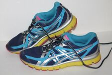 ASICS Gel Extreme 33 Running Shoes, #T2H9Q, Navy/Royal/Volt/Pink, Women's US 10