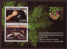 NEW ZEALAND 2004 HONG KONG STAMP EXHIBITION MINISHEET FINE USED