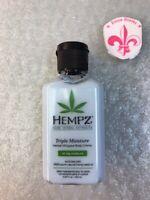 Hempz Triple Moisture Herbal Whipped Body Creme Lotion 2.25 oz  Sample Travel sz