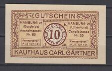 Hamburg  -  Kaufhaus Carl Gärtner  -  10 Pfennig    (V36)