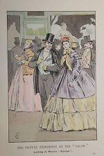 1901 Fashion in Paris Mode à Paris Estampe orginale coloriée François Courboin