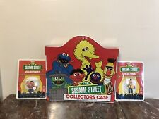 Ctw Sesame Street Collectors Case 1985 W/Two NIB Collectible Bert & Ernie