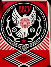 Obey Giant Peace And Freedom  Dove 2014. 18 X 24