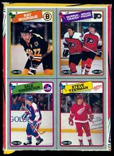 1988 O-PEE-CHEE OPC Ray Bourque Steve Yzerman EX+ BOX BOTTOM 4 CARD UNCUT PANEL
