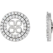 9/10 CTW orecchino di diamanti GIACCHE IN 14k oro bianco