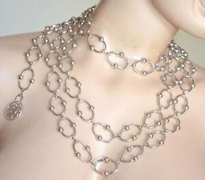 CINTURA ARGENTO gioiello donna collana stringivita lucida catena anelli пояс PX1