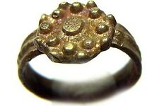 AD700 Roman Byzantine Constantinople Intricate Starburst Ribbed Bands Ring Size5